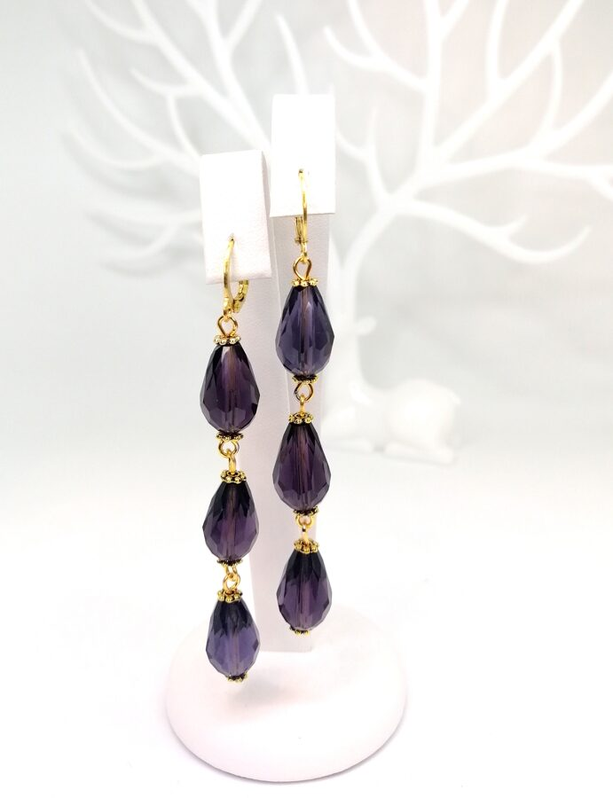 Lāses auskari / violeti
